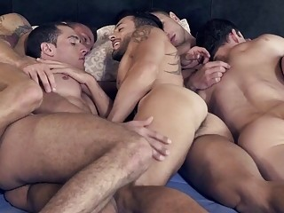 HD gay porn vid featuring the dirtiest group sex
