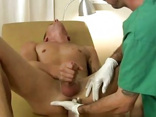 Naughty male nurse gives a prostate exam