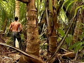 Two hot gay guys have intense anal in the forest