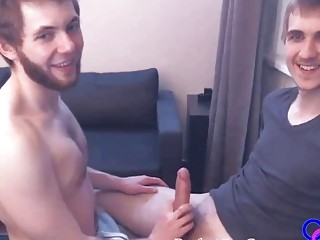 This horny dude can't believe the size of his partner's rod