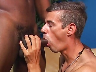Showing this hottie what black cock feels like