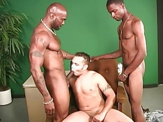 A couple of black guys come on to this white dude