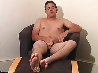 Freak with dirty socks unveils his wriggly toes