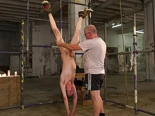 Submissive twinks tied up and ravaged in a kinky foursome