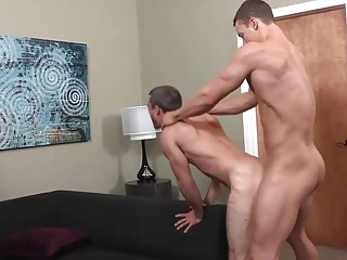 Cameron and Daniel deepthroat and fuck like animals on their vacation