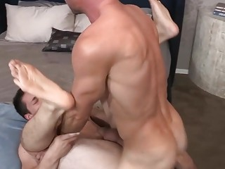 Daniel and Ollie have crazy poppers sex in the hotel
