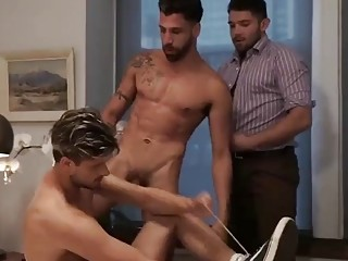 Arab hotties take turns fucking this pretty French guy