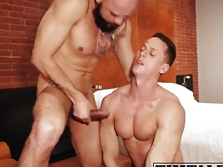 Daddies cock fucks his gay step son in the ass