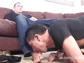 Kinky gay guys play with toys and bondage before anal sex