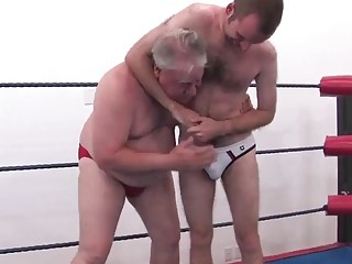 Wrestling with two older gay guys