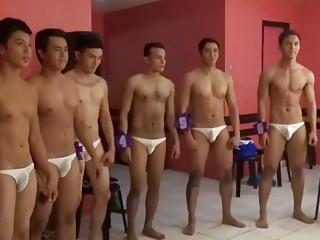 Backstage at a sex show with pretty hunks