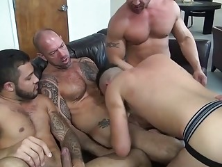 Birthday party turns into a hardcore gangbang for gay guys