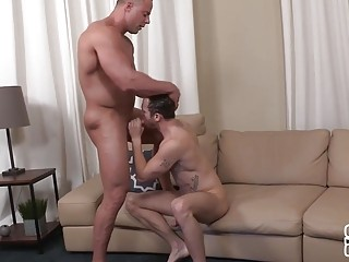 Horny hunks Jack and Sean fuck on the floor
