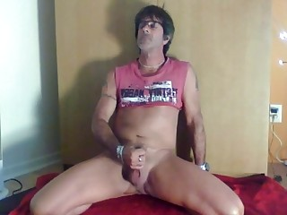 Daddy Daniel smokes while using a dick toy