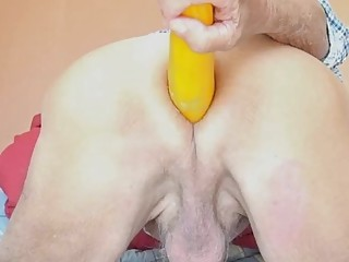 Compilation of older guy's XXL anal toys