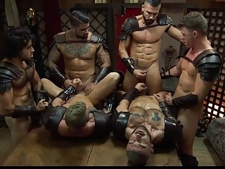 Cosplaying studs in a thrilling orgy