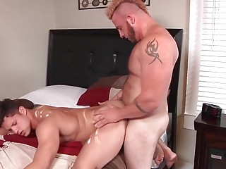 Jock knows this young guy needs a good ass breeding