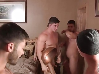 Buddies head to the cabin for a weekend of sex