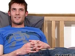 British amateur Myles Andrews jerks off after interview