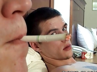 Amateur cigarette smokers anal after blowing in sixty nine