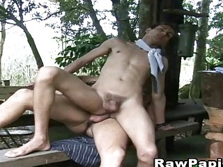 Horny Latino Gay Make Their Hot Sex Outside