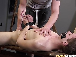 Master penetrates ass with cock and fist