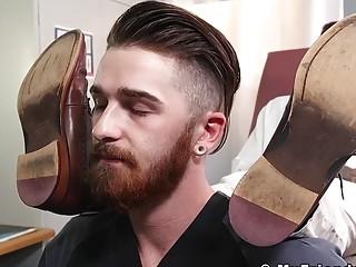 Patient licking doctors feet for cum