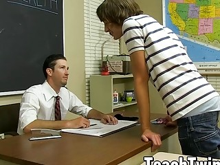 Student twink dildo drilled and pounded