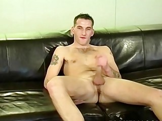 UK youngster masturbates and cums