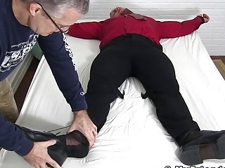Restrained stud dominated and tickled